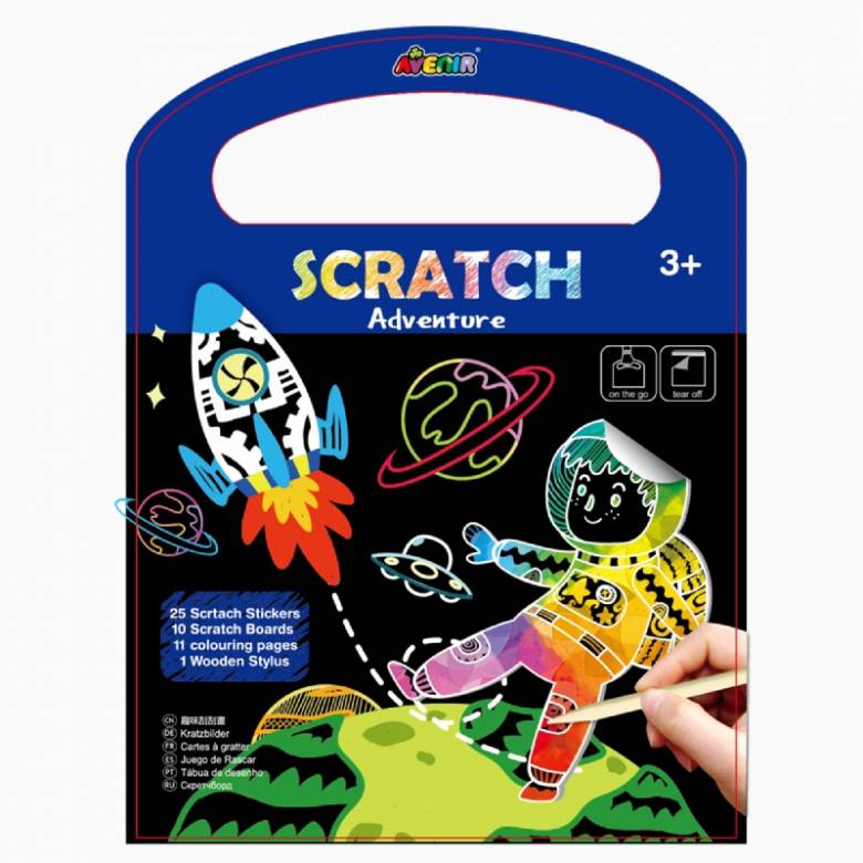 On The Go Scratch Book - Adventure 3+