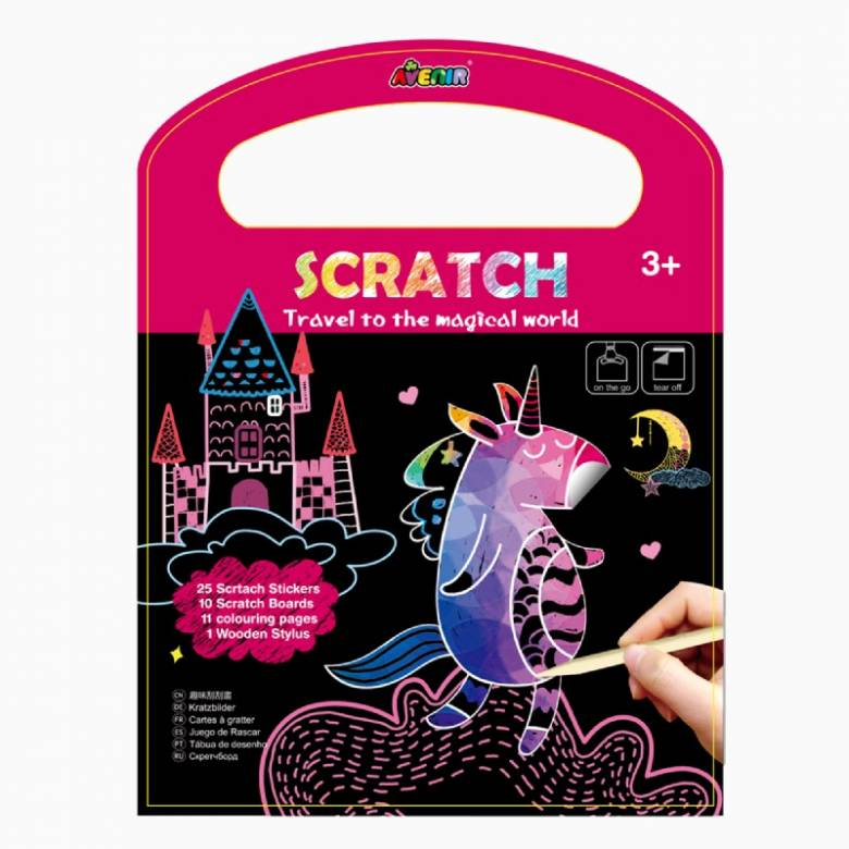 On The Go Scratch Book - Magical World 3+