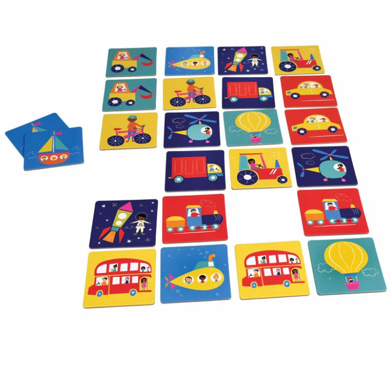 On The Move - Transport Memory Card Game