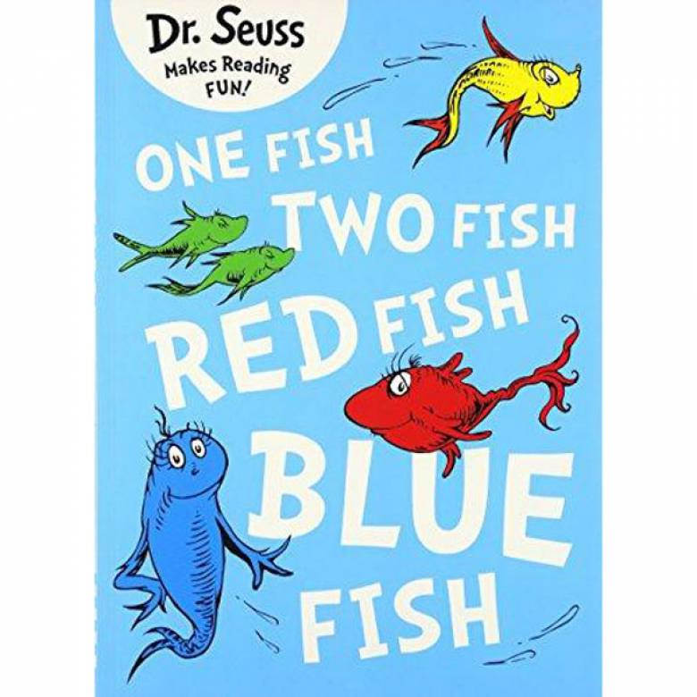 One Fish Two Fish Red Fish Blue Fish By Dr Seuss Paperback Book