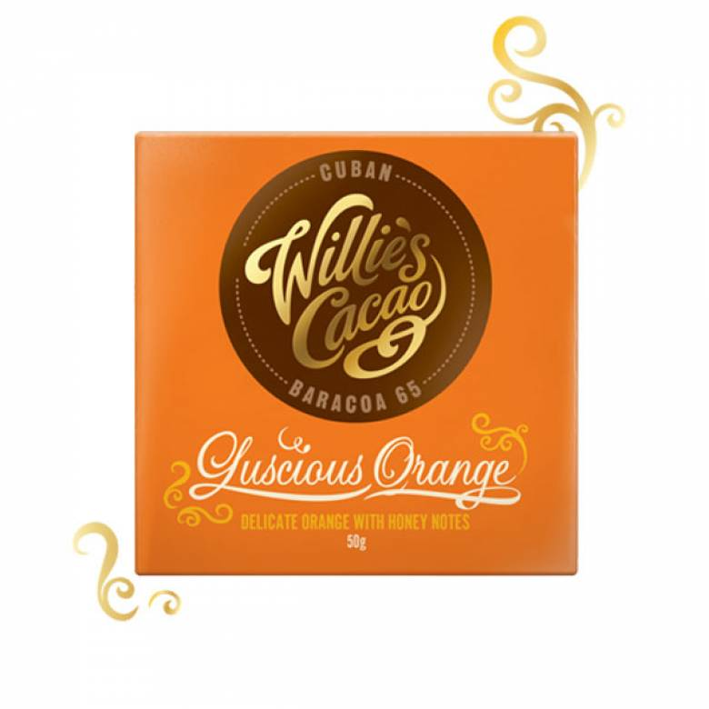 Luscious Orange Baracoa 65 Dark Chocolate Willie's Cacao 50g