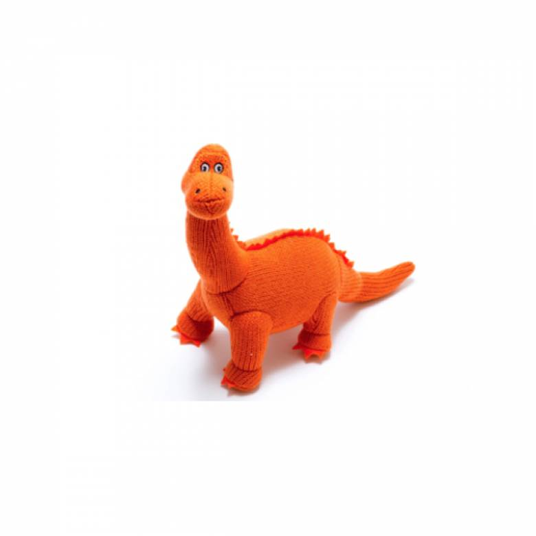 Diplodocus Dinosaur Knitted Rattle Soft Toy 0ys+