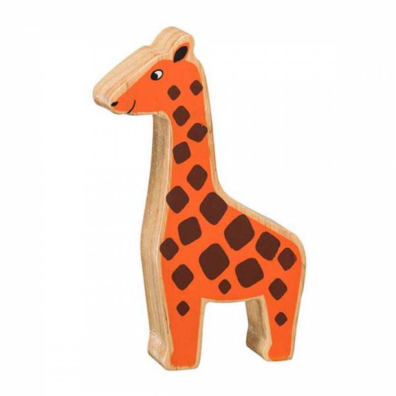 Orange Giraffe Wooden PAINTED Animal Fairtrade Lanka Kade