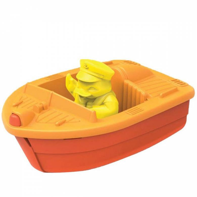 Orange Mini Race Boat By Green Toys - Recycled Plastic 2+