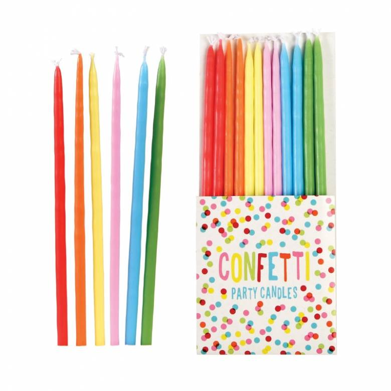 Pack Of 12 Large Confetti Candles