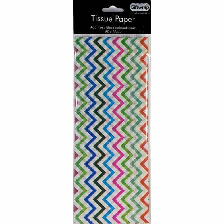 Pack Of Multi-Coloured Zig Zag Tissue Paper