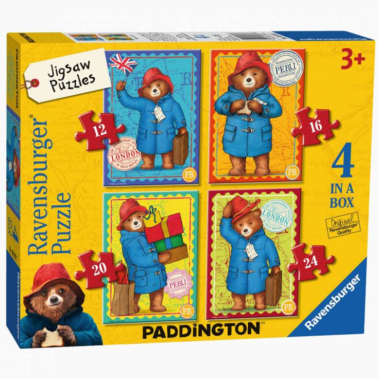 Paddington Bear Jigsaw Puzzle - 4 In A Box 3+