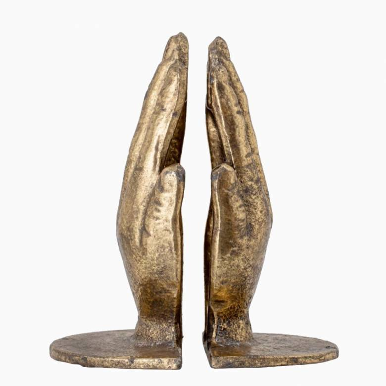Pair Of Brass Hand Bookends