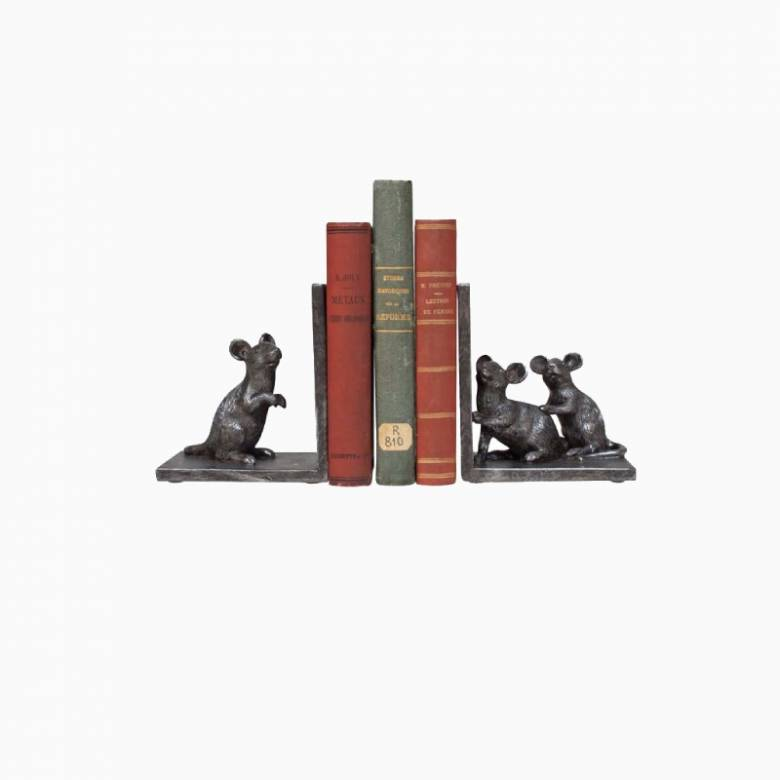 Pair of Mice Bookends