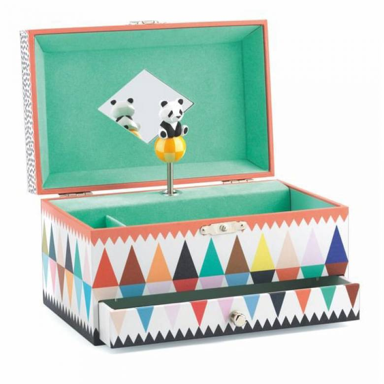 Panda's Song Music Box With Drawer By Djeco