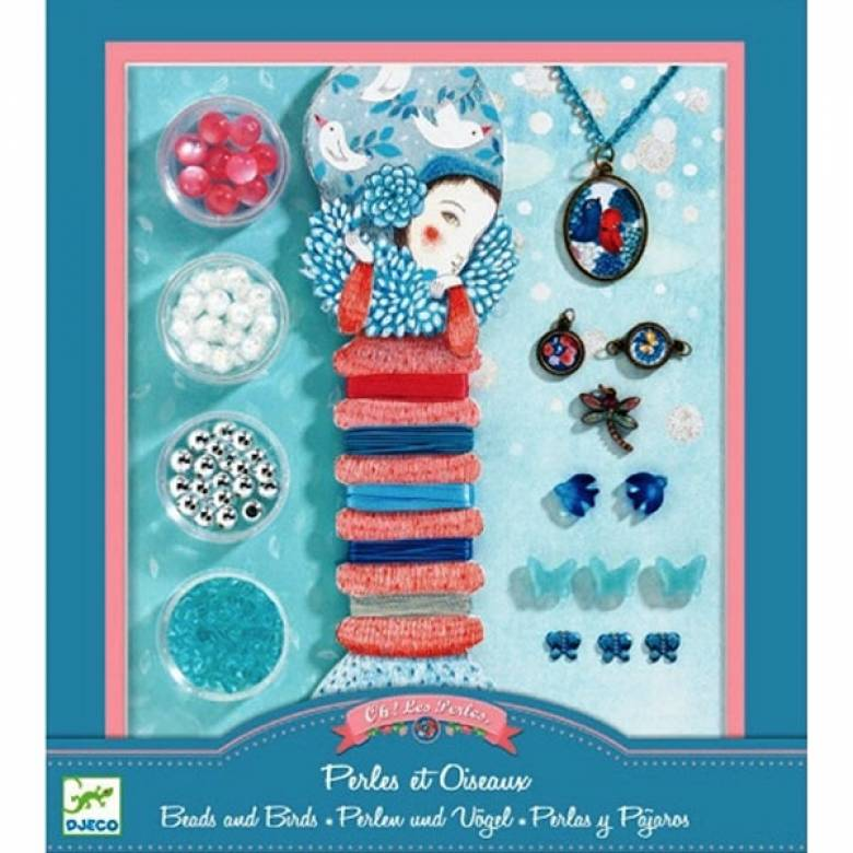 Jewellery Making Set Pearls And Birds By Djeco 7yrs+