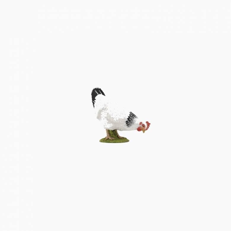 Pecking White Hen - Papo Farm Animal Figure