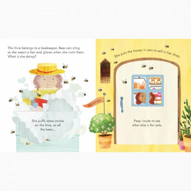Peep Inside A Beehive - Lift The Flap Board Book