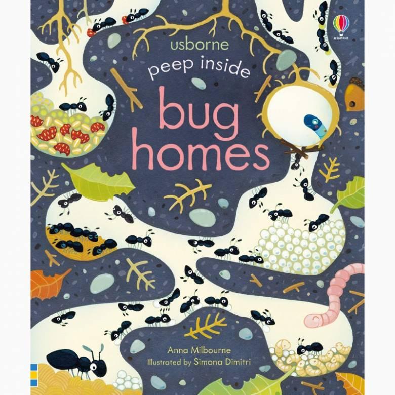 Peep Inside Bug Homes - Board Book