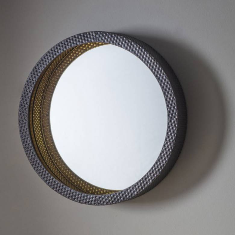 Dimple Metal Circular Mirror 51cm