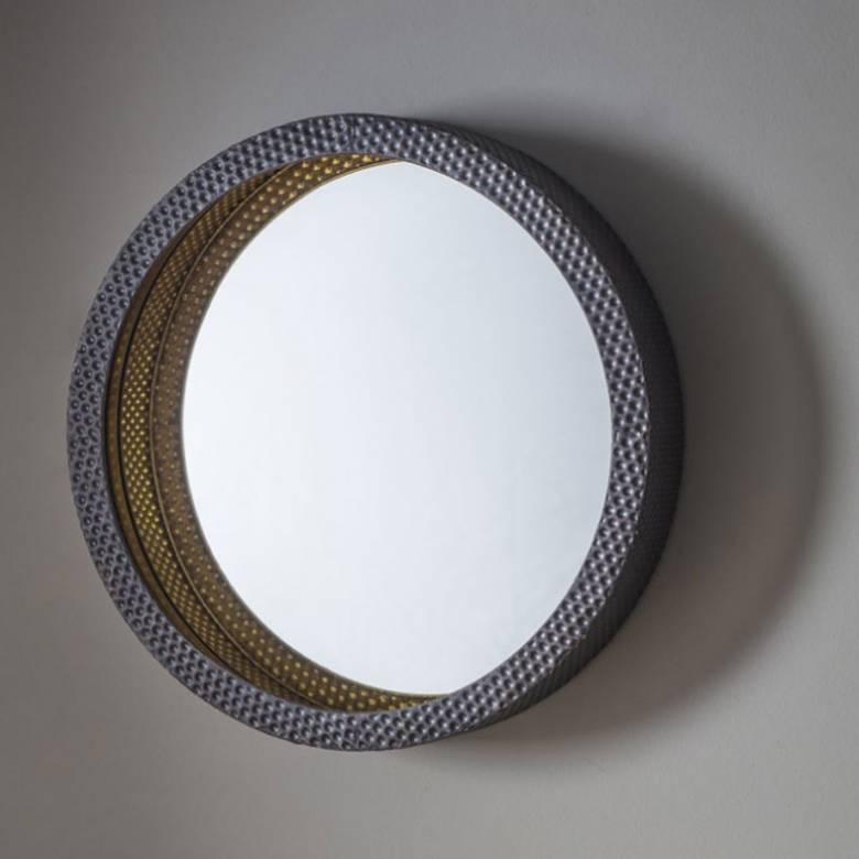 Dimple Metal Circular Mirror 51cm