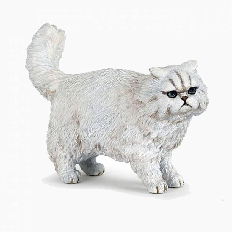 White Persian Cat - Papo Animal Figure