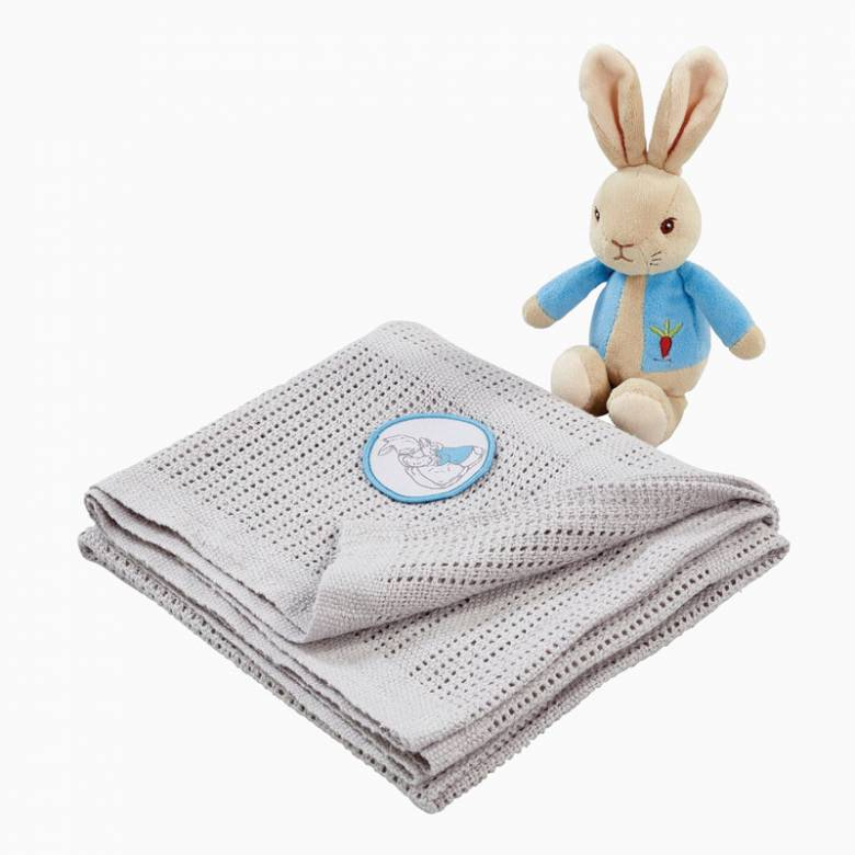 Peter Rabbit Soft Toy And Blanket Set