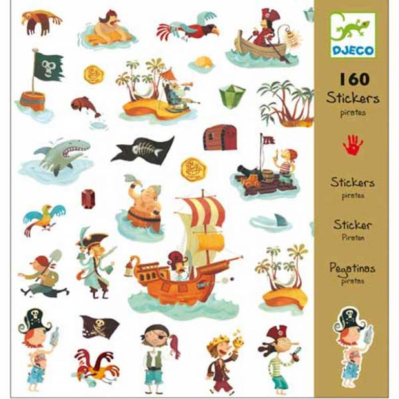 Pack Of 160 Stickers - Pirates