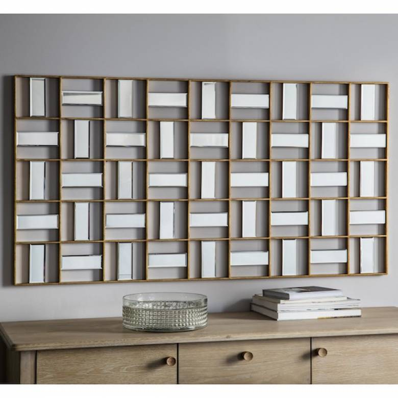 Mosaic Panelled Rectangular Mirror