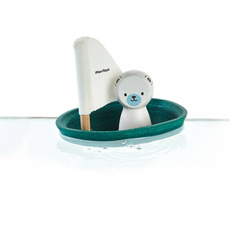Polar Bear Sailing Boat Bath Toy By Plan Toys 1+