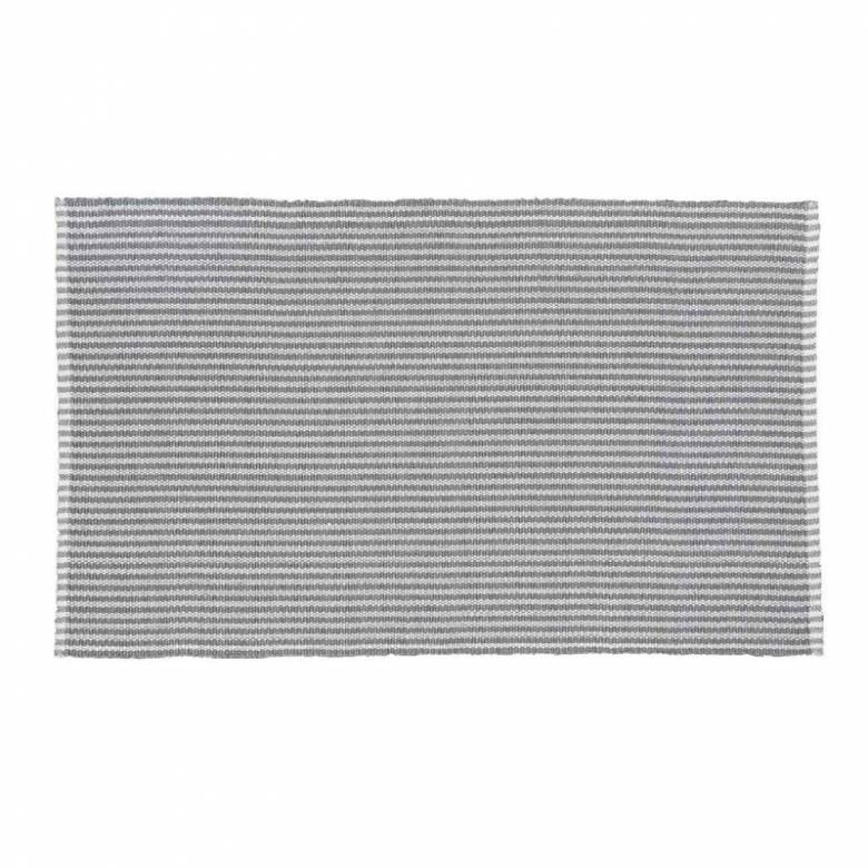 Polperro Stripe In Dove Grey 110x60cm Recycled Bottle Rug