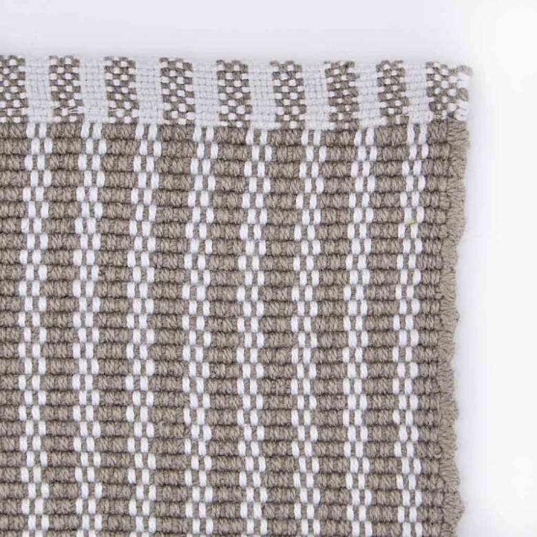 Polperro Stripe In Monsoon 110x60cm Recycled Bottle Rug
