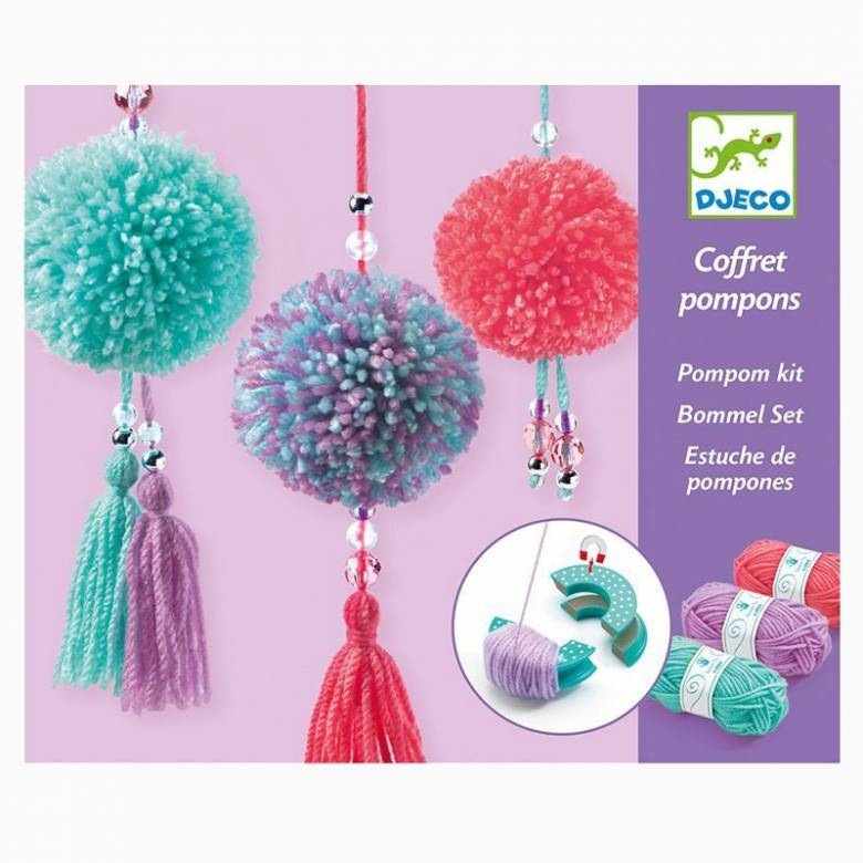 Pom Pom Tassels Craft Kit By Djeco 7+