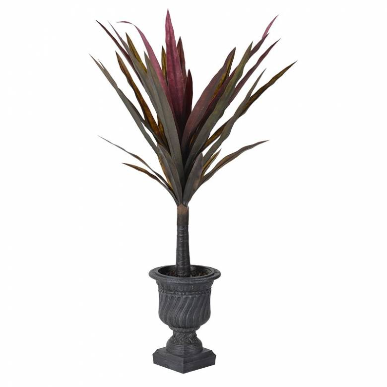 Agave Plant In Grey Decorative Pot Artificial Plant