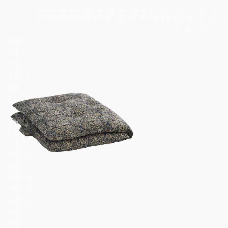 Printed Single Cotton Folding Cushion In Black