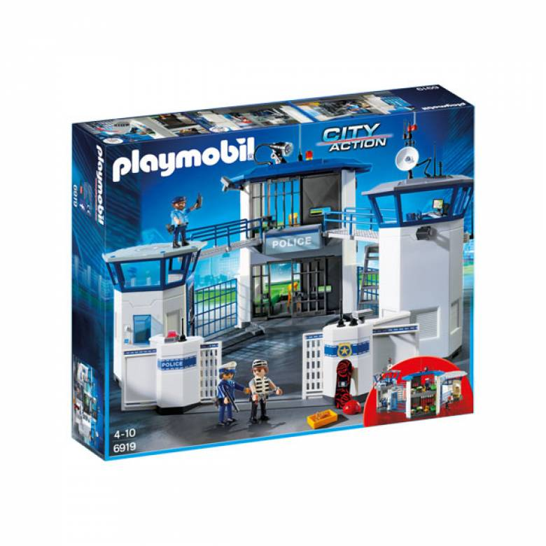 Police Headquarters with Prison City Action Playmobil 6919