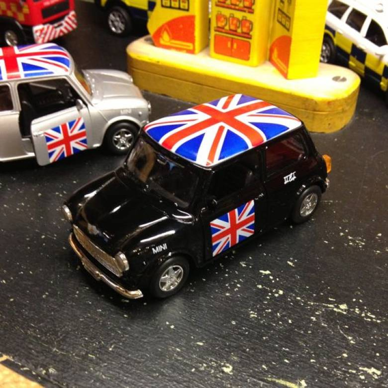 Mini Cooper Union Jack Toy Car Pull Back MIXED Colours