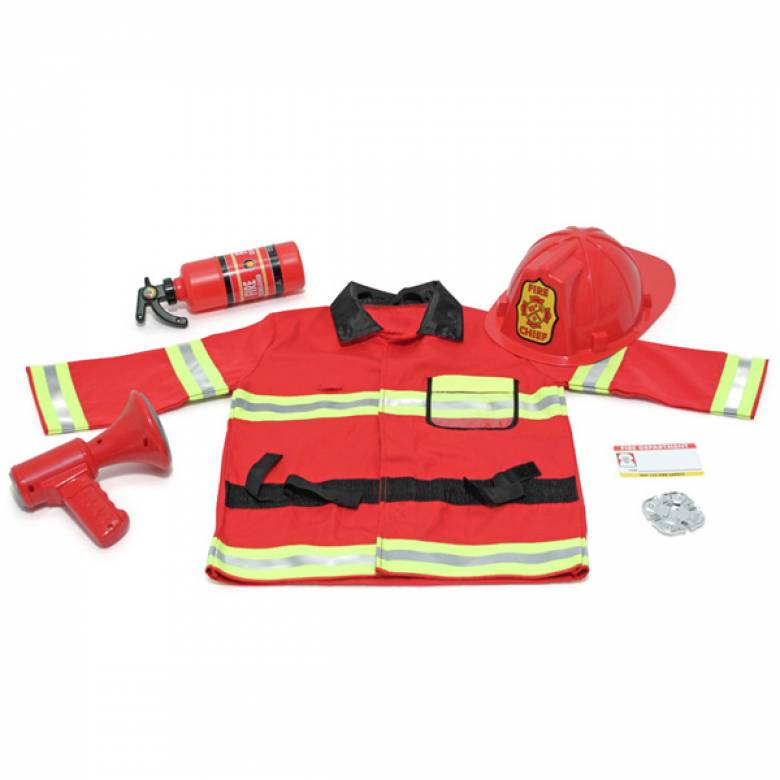 Fire Fighter Fancy Dress Role Play Costume Set