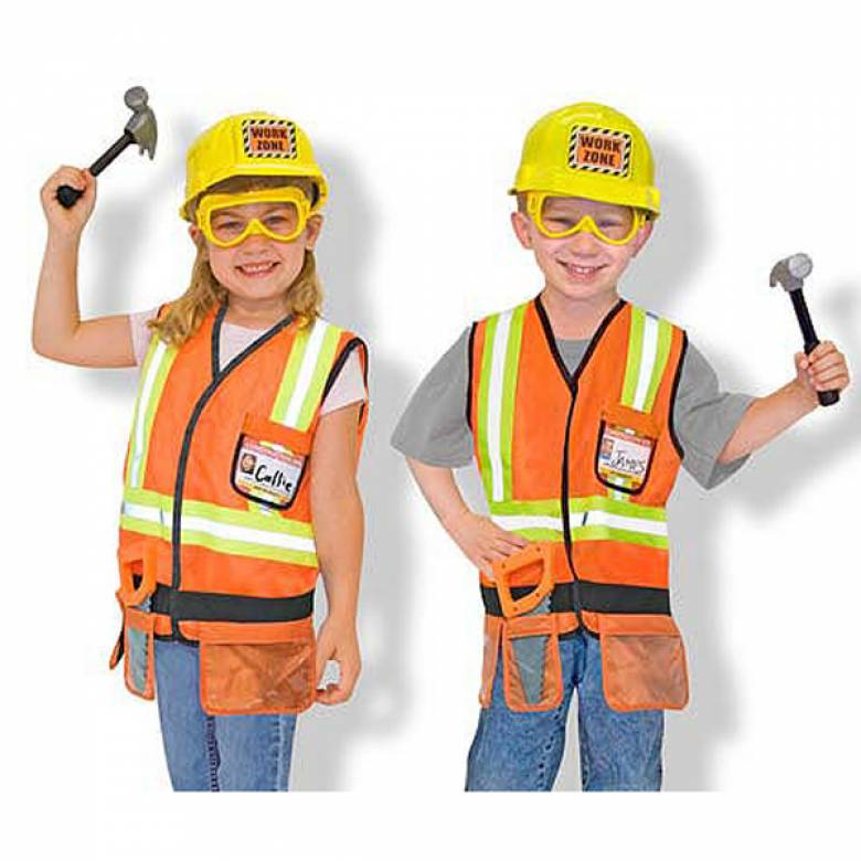 Fancy Dress Role Play Costume Set - Builder Construction Worker