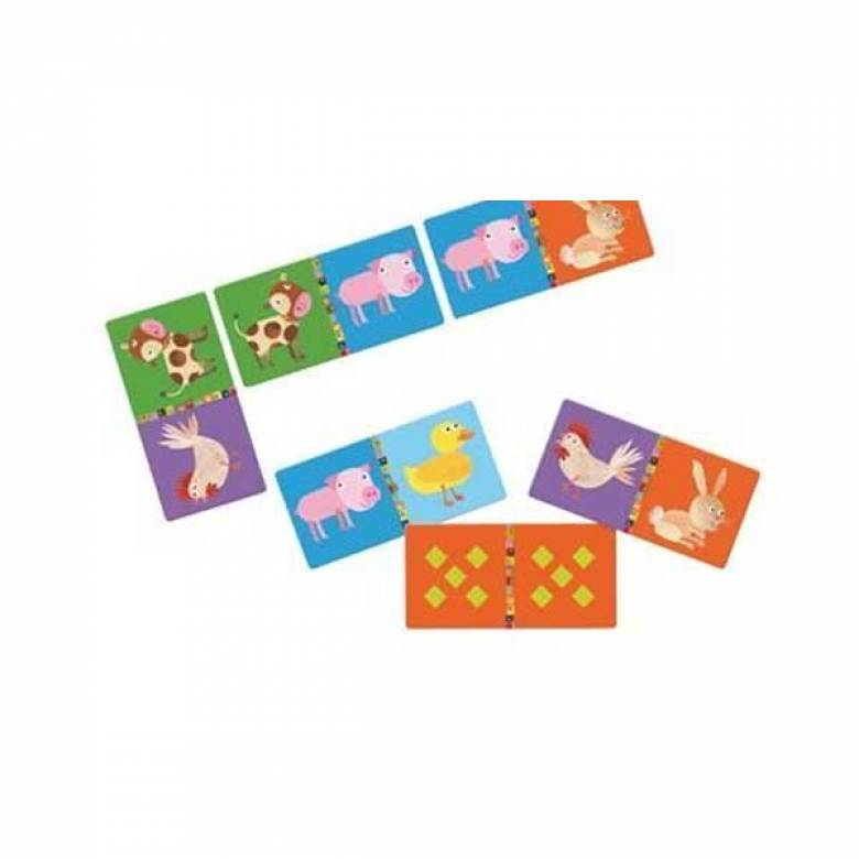 SPLIT Farm Animal Dominoes 28pc By Djeco Age 3yr+