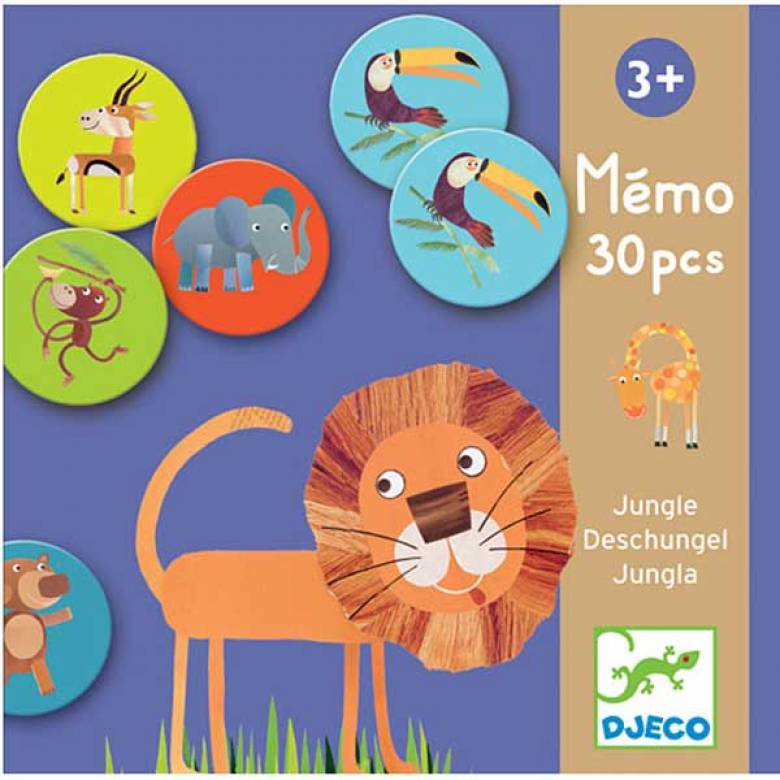 Jungle Memo Memory Game By Djeco 3yr+