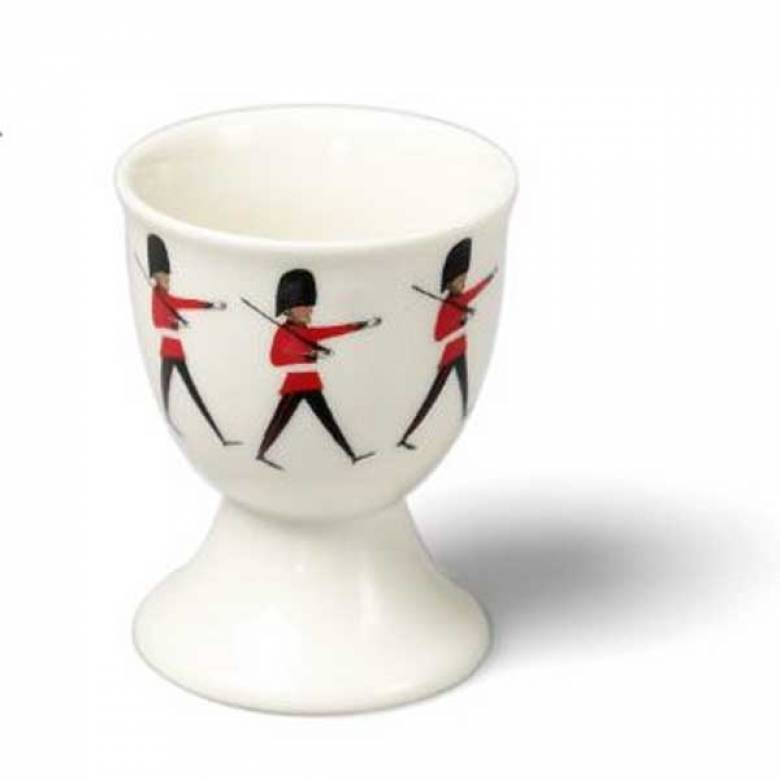 London Soldier Print China Egg Cup