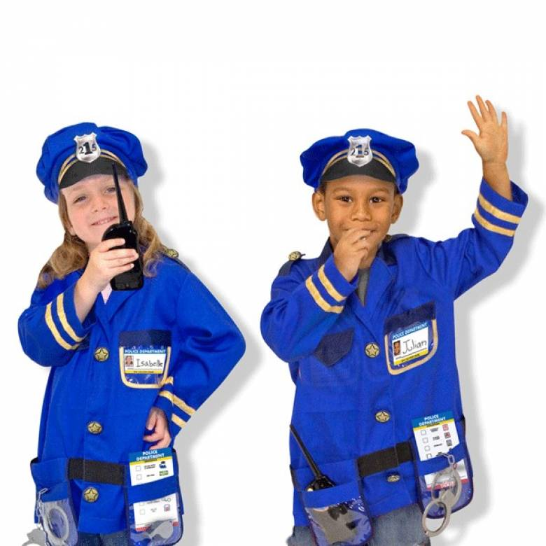 Police Officer Fancy Dress Role Play Costume Set