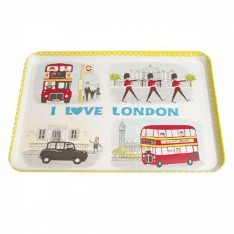 I Love London Snacks Tray 22x30cm.