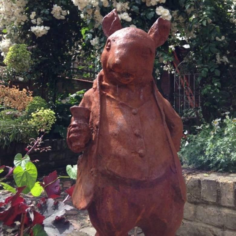 Cast Iron Mr Ratty Garden Ornament