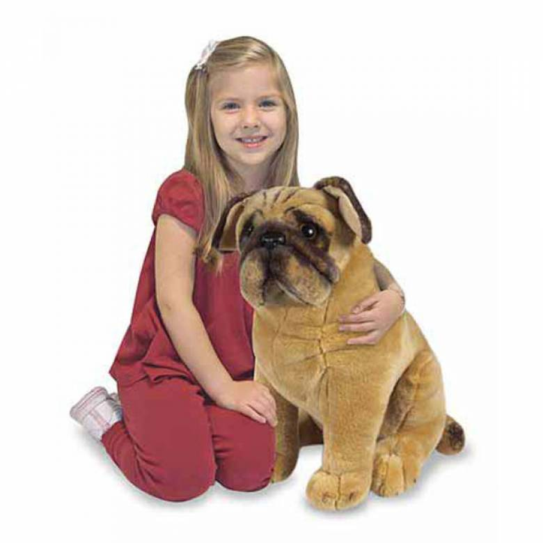 Large Pug Dog Soft Toy 3+