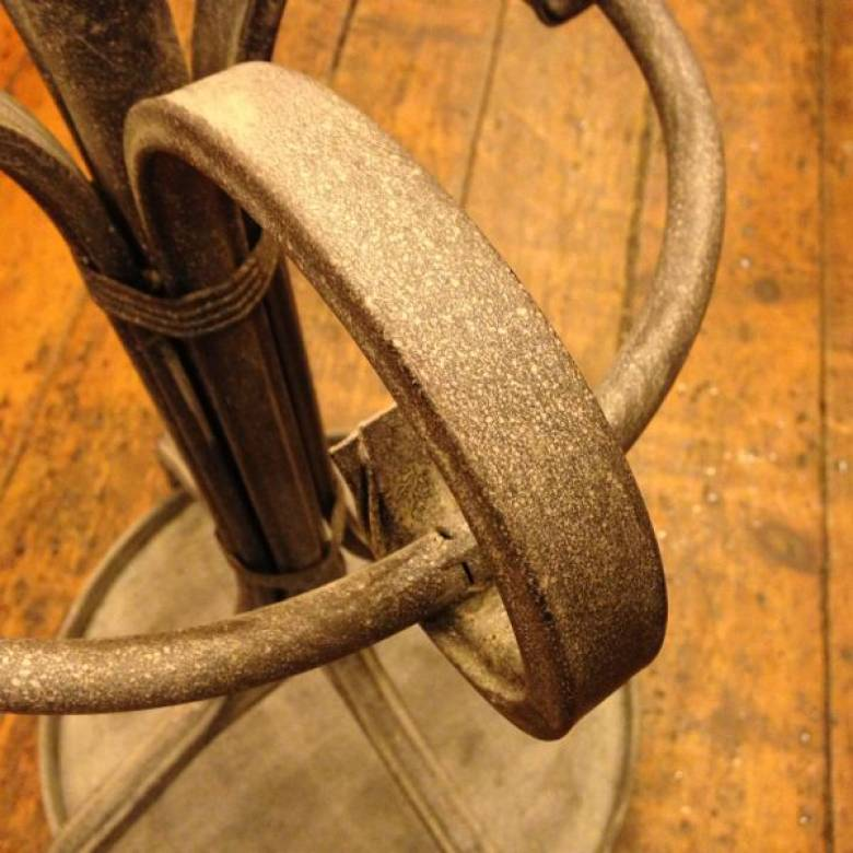Last One - Metal Coat Stand/ Hat Stand Distressed Finish