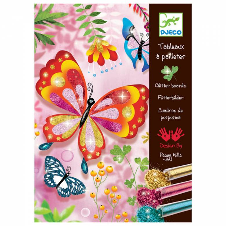 Butterflies Glitter Sand Art Set By Djeco 8-12yrs