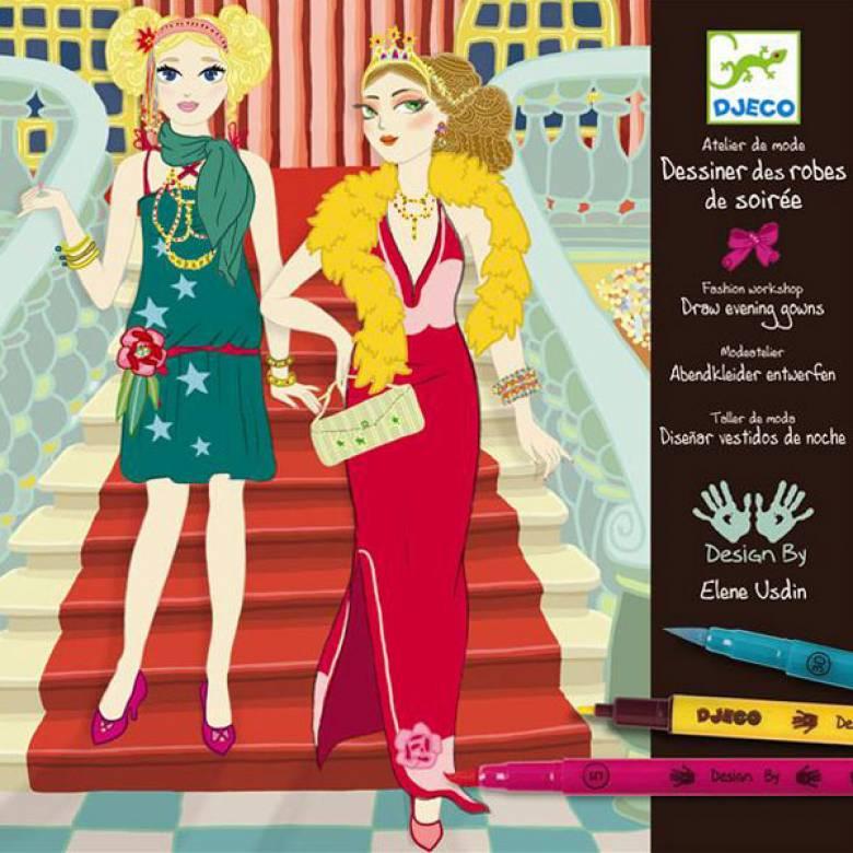 Dress Evening Gowns Workshop Art Set Djeco 9-13yrs.