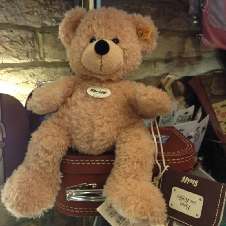 Fynn Bear Soft Toy In Suitcase By Steiff