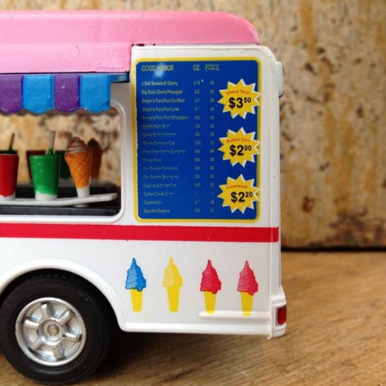 Teamsterz Ice Cream Van Toy Car