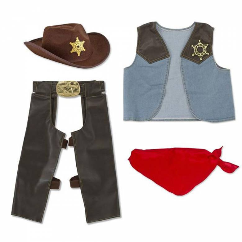 Cowboy -  Fancy Dress Role Play Costume Set
