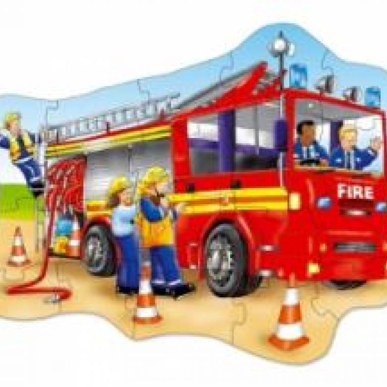 Big Fire Engine Puzzle Jigsaw By Orchard Toys 3-6yrs