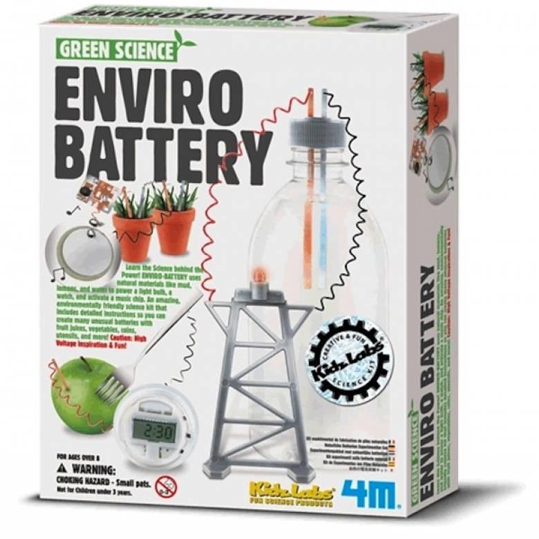 Green Science-Enviro Battery - Kids Labz 8yr+