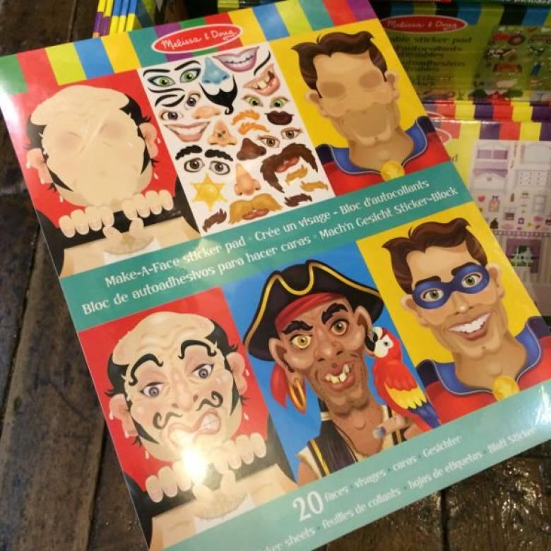 Make A Face Crazy Face Sticker Pad Melissa + Doug